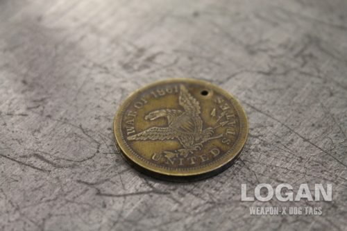 Wolverine James Logan Howlett Civil War Identification Disc Coin Eagle