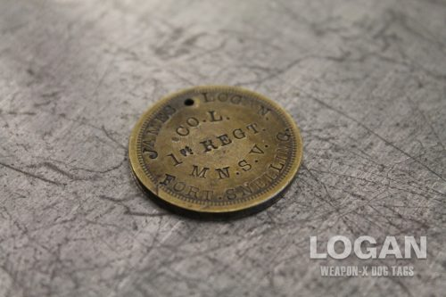 Wolverine James Logan Howlett Civil War Identification Disc Coin Reverse